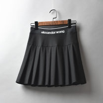 skirt Spring 2021 M,L,XL black Short skirt Versatile High waist Pleated skirt Solid color Type A 25-29 years old 51% (inclusive) - 70% (inclusive) Other / other cotton 401g / m ^ 2 (inclusive) - 500g / m ^ 2 (inclusive)