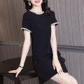 Dress Autumn 2020 black M,L,XL,2XL,3XL 30% and below cotton