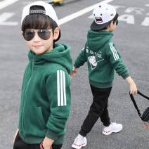 Plain coat Other / other male 110cm,120cm,130cm,140cm,150cm,160cm,170cm Green, coffee spring and autumn leisure time Zipper shirt There are models in the real shooting Plush No detachable cap other other NLXZ-6741S