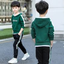 suit Other / other White, dark green 110cm,120cm,130cm,140cm,150cm,160cm,170cm male spring and autumn motion Long sleeve + pants 2 pieces routine There are models in the real shooting No detachable cap other NALPG-YT81030M Three, four, five, six, seven, eight, nine, ten, eleven, twelve