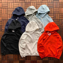Sweater Youth fashion Others Light grey, black, navy M,L,XL Solid color Socket routine Hood autumn easy leisure time teenagers Basic public routine Rib  cotton printing No process More than 95% Kangaroo pocket