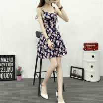 Square Dance Dress S,M,L,XL,2XL other camisole Broken flowers Self cultivation routine Splicing