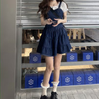 Dress Summer 2021 Picture color, collection, purchase and delivery insurance S,M,L Mid length dress commute High waist Solid color Cake skirt 18-24 years old Type A 30% and below other cotton