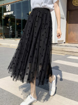 skirt Spring 2021 Average size Black, white, apricot commute High waist A-line skirt Solid color Type A 25-29 years old NC 51% (inclusive) - 70% (inclusive) other IEF / aiyifu other Korean version
