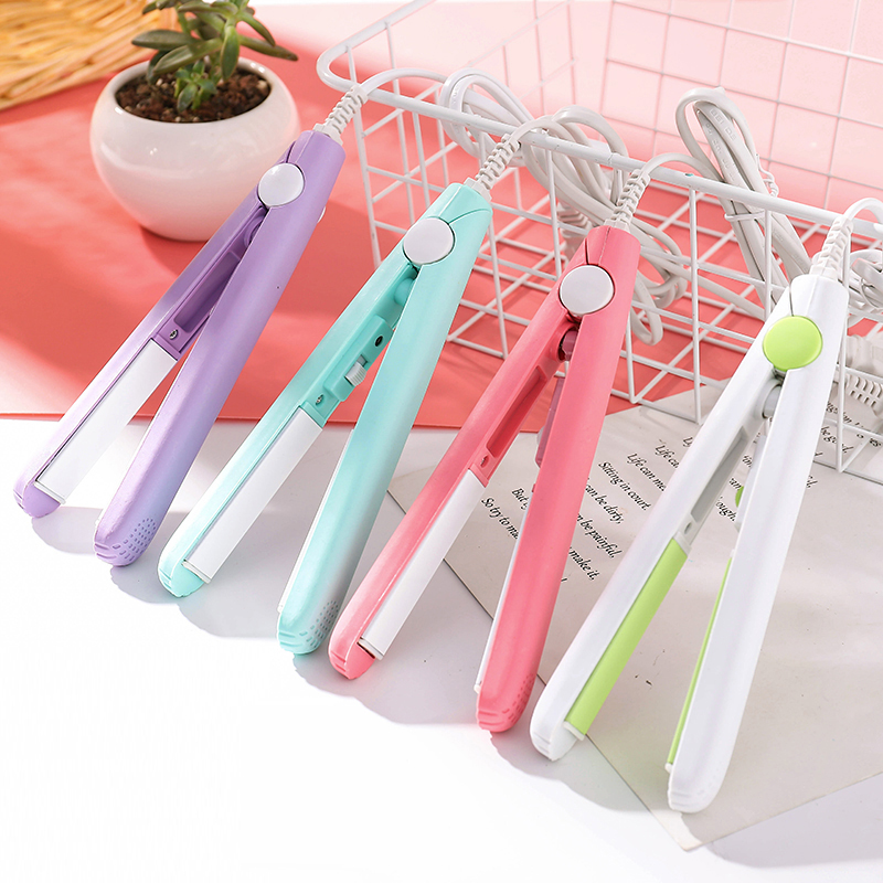 Curler / straightener Plug in type Below 25W Chinese Mainland Other / other Pink white purple blue five thousand and forty-two Gold ceramics Two in one roll / straight hair 3 min (inclusive) - 5 min (inclusive) Dry wet dual purpose Others Shop warranty