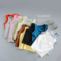 Vest sling Black, indigo, rice white, orange red, deep coffee, fruit green, lotus powder, light yellow, gray green, gray blue, light gray, taro purple Sleeveless 80#,90#,100#,110#,120#,130# summer Seando neutral No model other Solid color Crew neck nothing other T-65 Class A