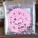 Coaster circular Pink Cherry Blossom coaster Self made pictures Starbucks / Starbucks