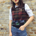 Vest sling Spring 2021 Brown, orange 5399060 with pocket, light orange 5399060 without pocket 3 / m, 2 / s, 5 / XL, 4 / L singleton  routine Self cultivation Versatile other lattice 96% and above wool Pinge Dixin