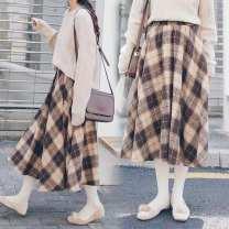 Cosplay women's wear jacket goods in stock Over 14 years old Khaki lattice comic M