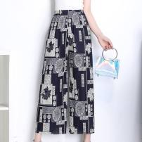 Middle aged and old women's wear Summer of 2018 One size fits 1.9ft to 3.4ft waistline. It is recommended to buy more at one time fashion trousers easy singleton  stripe 40-49 years old thin Q27899 Other / other 7 / 9 pants