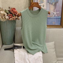 Vest sling Summer of 2019 Average size singleton  routine Self cultivation commute camisole Solid color 96% and above other