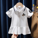 Dress White, pink female Tagkita / she and others 80, 90, 100, 110, 120, 130 Other 100% summer fresh Short sleeve Cartoon animation cotton Pleats FHW839 12 months, 9 months, 18 months, 2 years old, 3 years old, 4 years old, 5 years old, 6 years old