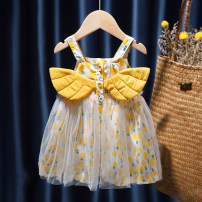Dress Yellow, pink female Other / other 80, 90, 100, 110, 120, 130 Other 100% summer Korean version Skirt / vest Solid color cotton Pleats 12 months, 9 months, 18 months, 2 years old, 3 years old, 4 years old, 5 years old, 6 years old