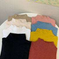 Wool knitwear Autumn 2020 One size fits all, XXS pre-sale Ginger, white, blue, black, oat, apricot, pink, brick red Long sleeves singleton  Socket other 81% (inclusive) - 90% (inclusive) Regular Thin money commute Self cultivation Half height crew neck routine Solid color Socket Korean version