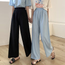 Casual pants Blue, black One size fits all, XXS pre-sale Summer 2020 trousers Wide leg pants High waist commute Thin money 18-24 years old 91% (inclusive) - 95% (inclusive) other Korean version