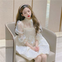 Fashion suit Summer 2021 S, M Baby collar shirt D , Suspender skirt G 18-25 years old 96% and above
