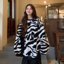 Sweater / sweater Autumn 2020 White zebra, black zebra One size fits all, XXS pre-sale Long sleeves routine Socket singleton  thickening Crew neck easy commute routine Leopard Print 18-24 years old 51% (inclusive) - 70% (inclusive) Korean version