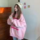 Sweater / sweater Winter 2020 Green, black, pink One size fits all, XXS pre-sale Long sleeves routine Socket singleton  thickening Crew neck easy commute routine Cartoon animation 51% (inclusive) - 70% (inclusive) Korean version cotton Embroidery cotton