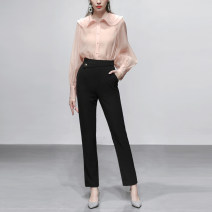 Casual pants S,M,L,XL Autumn 2020 trousers Pencil pants High waist commute routine 25-29 years old 96% and above Duffy fashion Ol style zipper polyester fiber Asymmetry