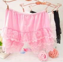 underpants female A cake skirt, B Anson black skirt Black, white Xianerzi 1 cotton boxer middle-waisted Sweet Solid color Modal fabric Safety trousers lesbian