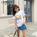 Women's large Summer 2021 white Large L Large XL Large XXL large XXL large XXL large XXXL T-shirt singleton  commute easy moderate Socket Short sleeve Cartoon animation Korean version Crew neck routine Cotton Lycra Lycra Three dimensional cutting routine S81937 Lrosey / blue water 25-29 years old
