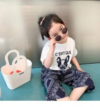 T-shirt white Other / other 90cm,100cm,110cm,120cm,130cm,140cm neutral summer Short sleeve Crew neck Korean version There are models in the real shooting nothing cotton Cartoon animation Cotton 100% Class A Three, four, five, six, seven, eight Chinese Mainland