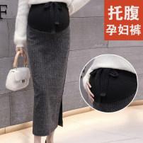 skirt Other / other Medium length Versatile M,L,XL,XXL spring and autumn Other / other Black, dark grey