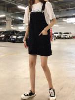 skirt Summer of 2019 S [80-95 Jin], m [95-105 Jin], l [105-115 Jin], XL [115-130 Jin], 2XL [130-145 Jin], 3XL [145-160 Jin], 4XL [160-175 Jin], 5XL [175-200 Jin] White, black Mid length dress commute High waist Strapless skirt Solid color Type H 18-24 years old Korean version