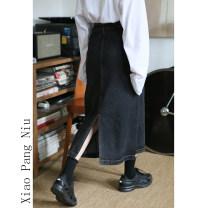 Jeans Spring 2020 Smoky grey S [90-100kg], m [100-110kg], l [110-120kg], XL [120-135kg], 2XL [135-150kg], 3XL [150-165kg], 4XL [165-175kg], 5XL [175-200kg] High waist routine 18-24 years old Dark color