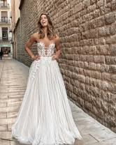 Dress / evening wear Wedding, adulthood, party, company annual meeting, performance Picture color, customize other colors grace longuette middle-waisted Spring 2020 Fall to the ground One shoulder zipper Netting flower Solid color Non handmade flower