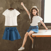 trousers Other / other female 110cm,120cm,130cm,140cm,150cm,160cm summer shorts Korean version There are models in the real shooting Casual pants Tether middle-waisted cotton Don't open the crotch 81—2 Class B 12 years old