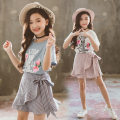 suit Other / other 110cm,120cm,130cm,140cm,150cm,160cm female summer Korean version Long sleeve + skirt 2 pieces Thin money There are models in the real shooting Socket nothing Broken flowers Pure cotton (100% cotton content) X18071401 Class B 10, 11, 12, 4, 5, 6, 7, 8, 9