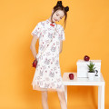 Dress Spring 2021 White cheongsam skirt send pendant, Jasper T-shirt S,M,L,XL,2XL,3XL Miniskirt Short sleeve commute stand collar Animal design routine 18-24 years old 8500#