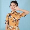 Dress Summer 2021 Design and color send Pendant S,M,L,XL Short skirt singleton  Short sleeve stand collar High waist 18-24 years old