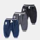 trousers Yiqi baby neutral 73cm,80cm,90cm,100cm,110cm Black, gray, Navy, black (plush), gray (plush), Navy (plush) spring and autumn trousers leisure time There are models in the real shooting Casual pants Leather belt middle-waisted other Open crotch B03KZ009 Class A
