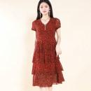 Dress Summer 2021 Dark red, dark red, no jewelry M,L,XL,2XL Other / other SD20L2112 81% (inclusive) - 90% (inclusive) nylon