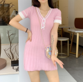 Wool knitwear Summer of 2019 Average size White, black, pink Short sleeve singleton  other 81% (inclusive) - 90% (inclusive) Medium length Thin money commute Self cultivation V-neck routine other Single breasted Korean version Other / other