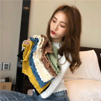 Wool knitwear Autumn of 2019 S,M,L Blue, green, yellow, white, black, orange pink, light apricot Long sleeves singleton  Socket other 71% (inclusive) - 80% (inclusive) have cash less than that is registered in the accounts routine commute Self cultivation Half height crew neck routine Solid color