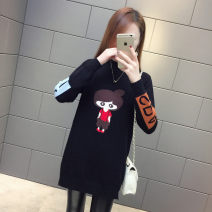 sweater Winter 2021 S,M,L,XL,2XL Long sleeves Socket singleton  Medium length other 30% and below Half high collar thickening commute routine Cartoon animation Regular wool Keep warm and warm Poetry of ainerei Medium and long cartoon Plush and thicken