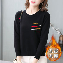 sweater Winter 2021 S,M,L,XL,2XL,3XL Long sleeves Socket singleton  Regular other 30% and below Crew neck Regular routine other Self cultivation Regular wool Keep warm and warm Plush and thicken