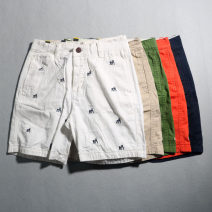 Casual pants Others Youth fashion 28,30,32,34,36 routine Shorts (up to knee) Other leisure Self cultivation No bullet summer youth Medium high waist Straight cylinder cotton More than 95%