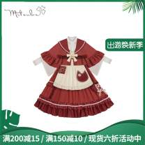 Dress Summer 2020 Skirt spot full, jacket spot full, shirt spot full, apron spot full S,M,L Middle-skirt singleton  Sleeveless Sweet other High waist Solid color Socket A-line skirt other camisole 18-24 years old Type A Sunyoutee / sanyeting Lolita