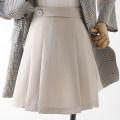 skirt Spring 2021 XS,S,M,L,XL Black, apricot, pink Short skirt Versatile High waist A-line skirt 18-24 years old Qin Yao