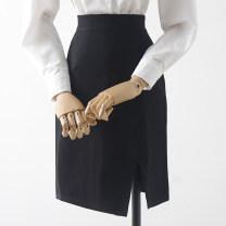 skirt Spring 2021 XS,S,M,L,XL black Short skirt High waist A-line skirt 18-24 years old Qin Yao