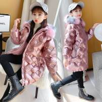 Cotton padded jacket female No detachable cap Cotton 91% - 95% Other / other Champagne, pink, black 110cm,120cm,130cm,140cm,150cm,160cm thickening Zipper shirt leisure time There are models in the real shooting other other Class A other Five, six, seven, eight, nine, ten, eleven, twelve, thirteen
