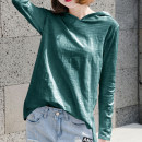 T-shirt Red, white, black, purple, coffee, apricot, light blue, blue S,M,L,XL,2XL,3XL Spring 2021 Long sleeves Hood easy Medium length routine commute cotton 96% and above 18-24 years old Korean version youth Solid color Cotton of cotton EY-F0006QT Split hem, mid length hood design
