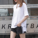 T-shirt White, taro purple S,M,L,XL,2XL Summer 2021 Short sleeve Hood easy Regular routine commute cotton 96% and above 18-24 years old Korean version youth Solid color Cotton of cotton EY-F0541 100% cotton, original design