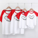Parent child fashion Raymond neutral A family of three With children spring and autumn leisure time routine Cartoon animation Finished T-shirt Pure cotton (100% cotton content) Cotton 100% Class A XL,XXL 12 years old