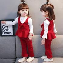suit Tong Yi Shi Jie Big red, purple pink 80cm,90cm,100cm,110cm,120cm nothing 12 months, 9 months, 2 years, 3 years, 4 years, 5 years, 6 years Chinese Mainland Jiangsu Province Xuzhou City