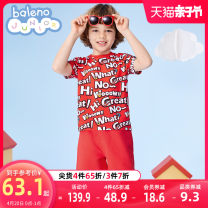 suit baleno junior 018E light rice grey + 20E 029y lemon yellow + 91P 024r Oriental red 90cm 100cm 110cm 120cm 130cm 140cm 150cm male summer Cartoon Short sleeve + pants 2 pieces routine There are models in the real shooting Socket nothing Cartoon animation cotton children Giving presents at school